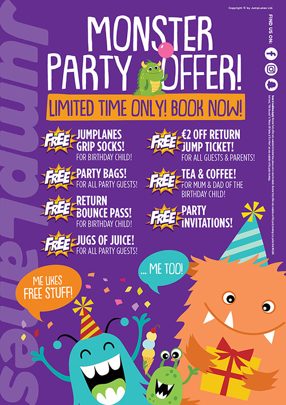 JumpLanes Athlone | Birthday Parties | YourDaysOut